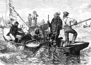 African-American Oystermen circa mid-1800s
